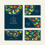 Business cards with summer theme Stock Photo