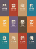 Business cards for tea and coffee royalty free illustration