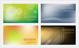 Business cards template. Four designs vector illustration