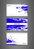 Business cards template with blue abstract spray paint.  paper background. Royalty Free Stock Photo
