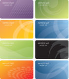 Business cards template design. Set of colorful business cards Royalty Free Stock Images