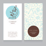 Business cards template for science lab of science classes. Vector illustration stock illustration