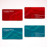 Business cards, template or visiting card set. Royalty Free Stock Images