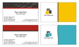 Business cards templates. Four business cards templates with various colours and design Stock Image