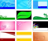 Business cards templates. Collection of vector business cards templates Royalty Free Stock Photo