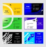 Business cards templates. Collection of vector business cards templates, travel edition Royalty Free Stock Image