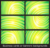 Business cards templates or banners backgrounds Royalty Free Stock Photography