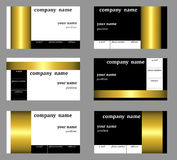 Business cards templates. On a gray background royalty free illustration