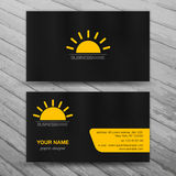 Business cards templates Royalty Free Stock Images