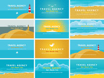 Business cards for travel agency Stock Photography