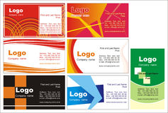 Business cards + vector file Stock Images