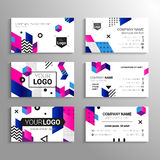 Business cards - vector template abstract background Stock Photos
