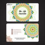 Business Cards. Vintage decorative elements. Ornamental floral business cards, oriental pattern. Business Cards. Vintage decorative elements. Ornamental floral royalty free illustration