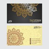 Business Cards. Vintage decorative elements. Ornamental floral business cards, oriental pattern. Business Cards. Vintage decorative elements. Ornamental floral vector illustration