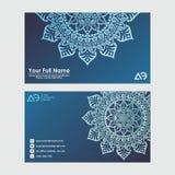 Business Cards. Vintage decorative elements. Ornamental floral business cards, oriental pattern. Business Cards. Vintage decorative elements. Ornamental floral stock illustration