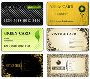 Business cards vintage modern Royalty Free Stock Images