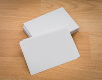Business cards on wood Stock Images