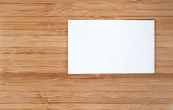 Business cards on wooden Stock Images