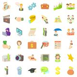 Business career icons set, cartoon style. Business career icons set. Cartoon style of 36 business career vector icons for web isolated on white background Stock Photography