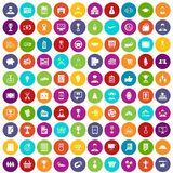 100 business career icons set color. 100 business career icons set in different colors circle isolated vector illustration Royalty Free Stock Image