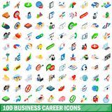 100 business career icons set, isometric 3d style. 100 business career icons set in isometric 3d style for any design illustration stock illustration