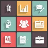 Business career icons Royalty Free Stock Photos