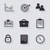 Business career icons Royalty Free Stock Photography