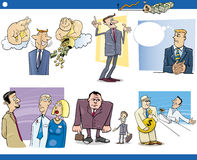Business cartoon concepts set Royalty Free Stock Images