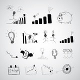 Business cartoon hand drawn Royalty Free Stock Images