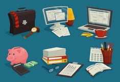 Business Cartoon Icons Set Stock Photography