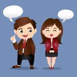 Business Cartoon Men and Girl Stock Photos