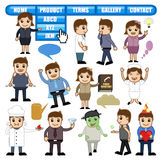 Business and Cartoon People Lifestyle Illustrations Royalty Free Stock Photos