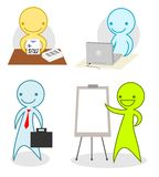 Business cartoon people Stock Images