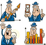 Business cartoons with funny man Stock Photography