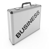 Business case. Business travel concept isolated on white Stock Image