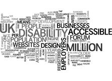 A Business Case For Accessible Website Design Word Cloud Stock Images