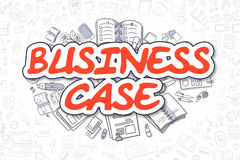 Business Case - Doodle Red Word. Business Concept. Royalty Free Stock Image