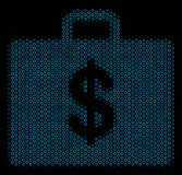 Business Case Mosaic Icon of Halftone Bubbles. Halftone Business case composition icon of spheres in blue color hues on a black background. Vector bubble spheres Royalty Free Stock Photography