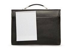 Business case on white and notepad Stock Photo