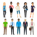 Business and casual dressed people Stock Images