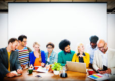 Business Casual People Office Working Discussion Team Concept Royalty Free Stock Photos