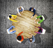 Business Casual Teamwork Discussion Meeting Planning Concept Royalty Free Stock Photo