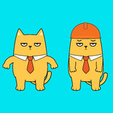 Business cat cartoon character Royalty Free Stock Photography