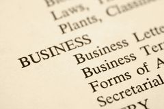 Business categories. Stock Photography