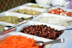 Business catering. Company food on table Royalty Free Stock Photos