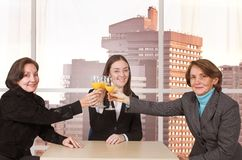 Business celebration in the office Stock Photo