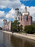 Business center. Modern hotel and business center on the riverside. Moscow, Russia Stock Photo