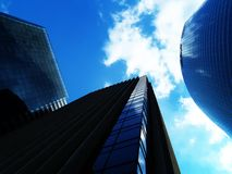 Business center. Office buildings over blue sky Stock Photography