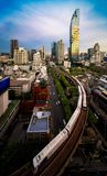 The business center area in Bangkok city Stock Photography