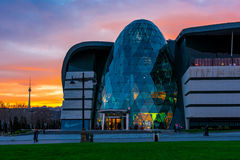 Business center on boulevard, Baku city Stock Images